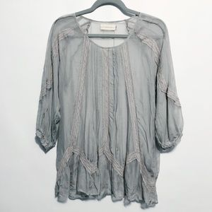 Johnny Was 4 Love and Liberty Silk Sheer Tunic